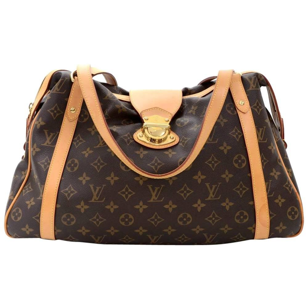 Louis Vuitton Stresa GM Monogram Canvas Large Tote Hand Bag For Sale