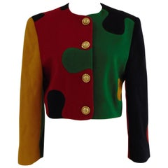 Iconic vintage Franco Moschino Cheap & chic puzzle jacket