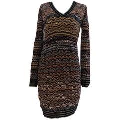 Missoni wool multicoloured long sleeves dress