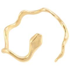 Giulia Barela Coil Cuff, gold plated bronze