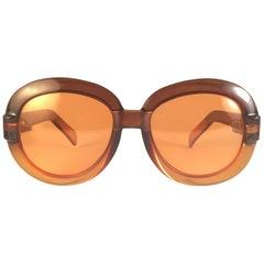 New Vintage Serge Kirchhofer Amber Oversized Sunglasses Austria