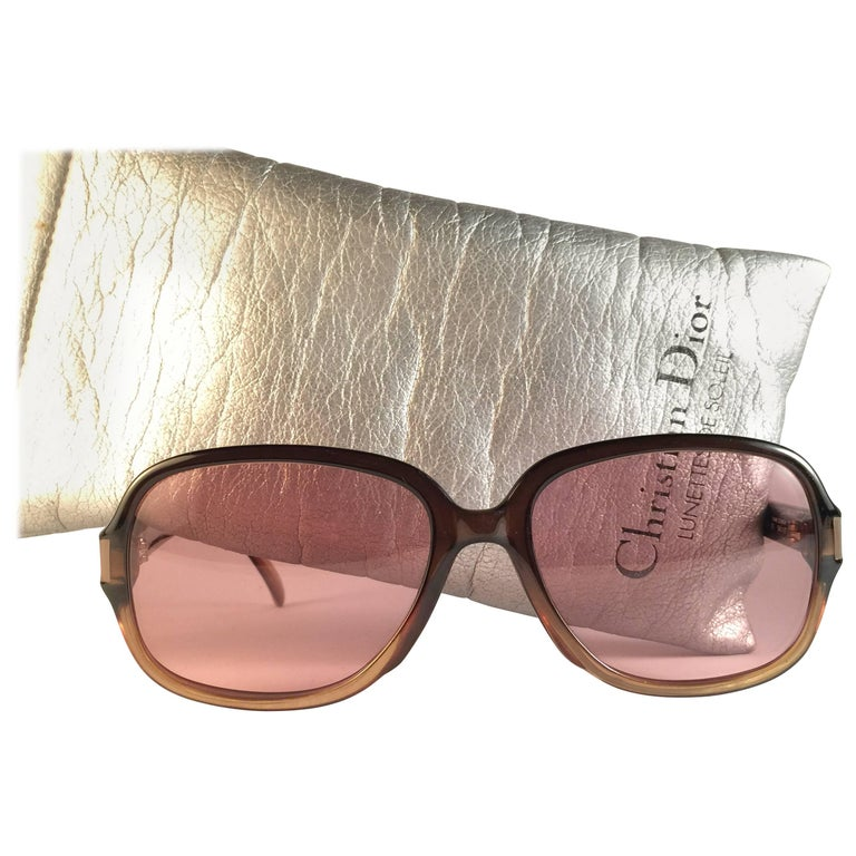 New Vintage Christian Dior Monsieur 2111 Sunglasses 1970's Austria