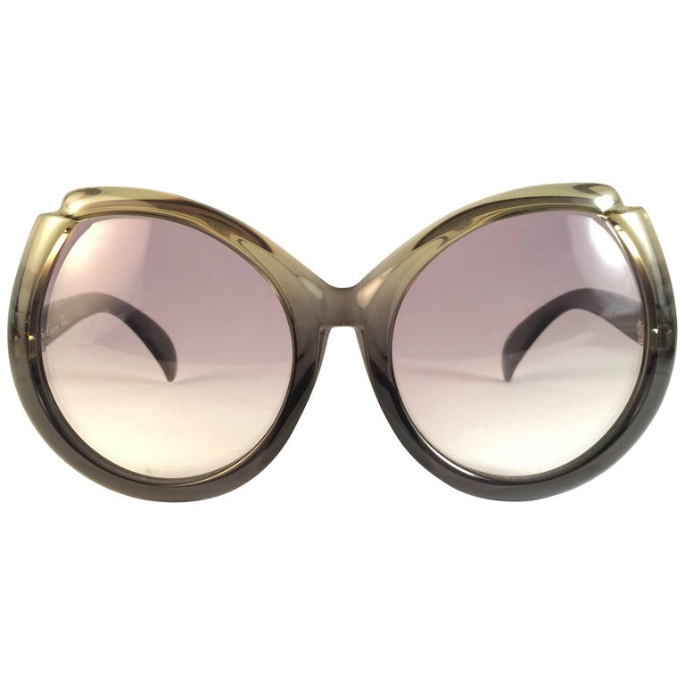 ab96740a76 New Vintage Christian Dior Oversized Sunglasses 1970 s Austria For Sale