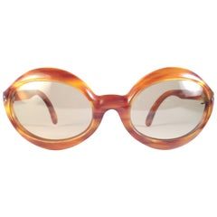 New Vintage Pierre Marly Domino Tortoise Avantgarde 1960's Sunglasses