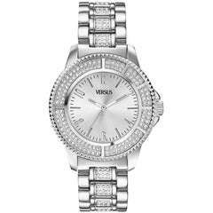 Versus stainless steel with swarovski crystal watch