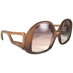 New Vintage Christian Dior Oversized Sunglasses 1970's Austria