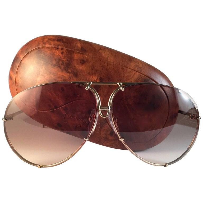 e41ff7f37e New Vintage Porsche Design By Carrera 5621 49 Titan Large Sunglasses  Austria at 1stdibs