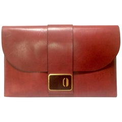 Vintage Christian Dior wine leather document, portfolio case bag. Unisex purse.