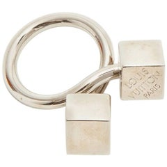 LOUIS VUITTON Ring with Two Dice in Silver Plated Metal Size 53EU - 6.5US