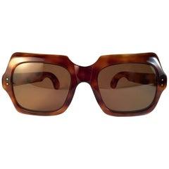 New Rare Vintage Philippe Chevallier Tortoise Oversized 1960's Sunglasses