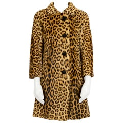 1960s Kate Moss Style Genuine Fur Coat