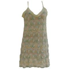 Missoni Mare green cotton dress