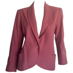 Yves Saint Laurent dusty pink wool blazer