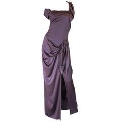 1990s Vivienne Westwood Light Purple Draped Red Label Dress