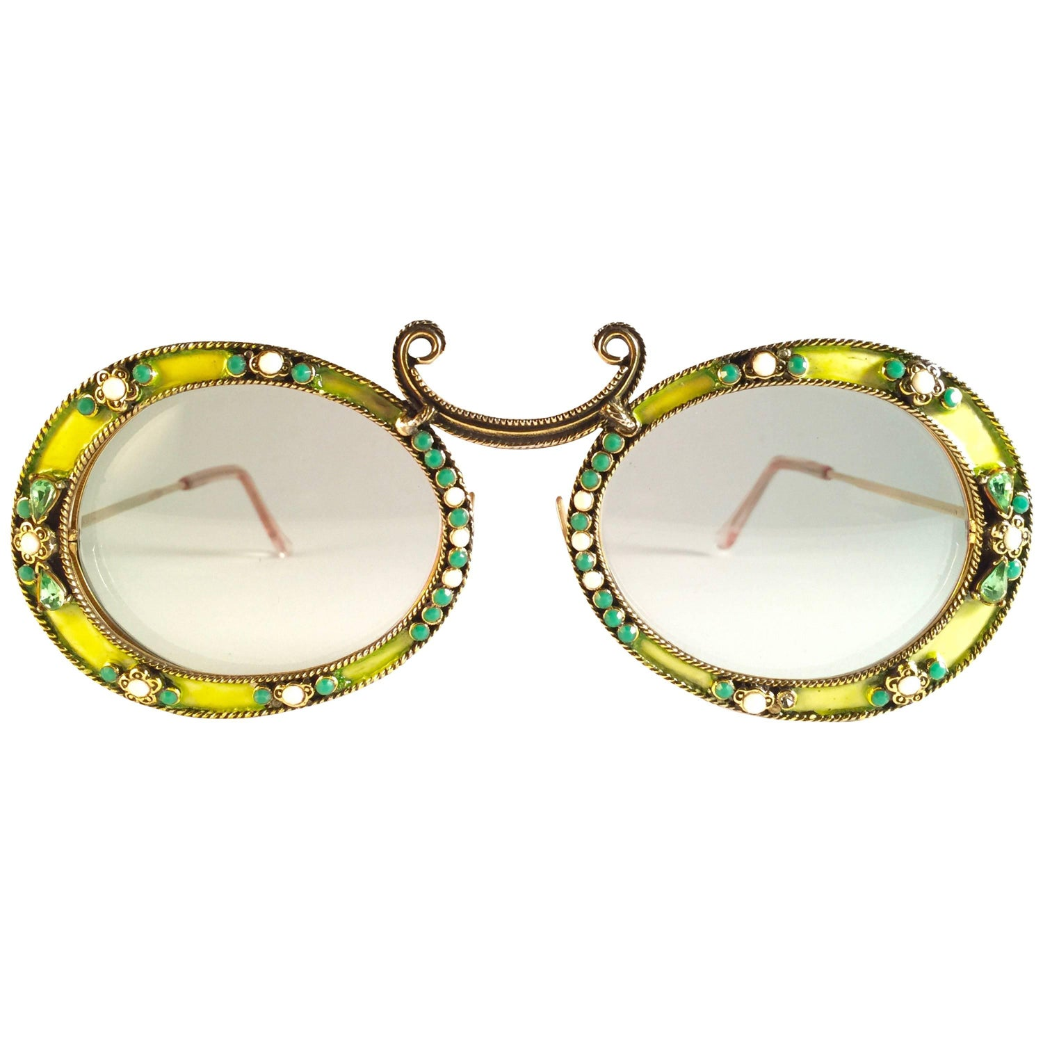 ee7cf5bde87 Ultra Rare 1960 Christian Dior Enamel Jewelled by Tura Collector Item  Sunglasses