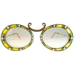 934c7942f01c Ultra Rare 1960 Christian Dior Enamel Jewelled by Tura Collector Item  Sunglasses