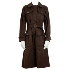 1970s Yves Saint Laurent Collectable Chocolate Brown Safari Collection Coat