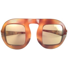 "New Vintage Pierre Cardin "" Shell "" Tortoise Medium Brown Lens 1960's Sunglasses"