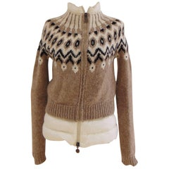 Moncler multi nude tone jacket - new down