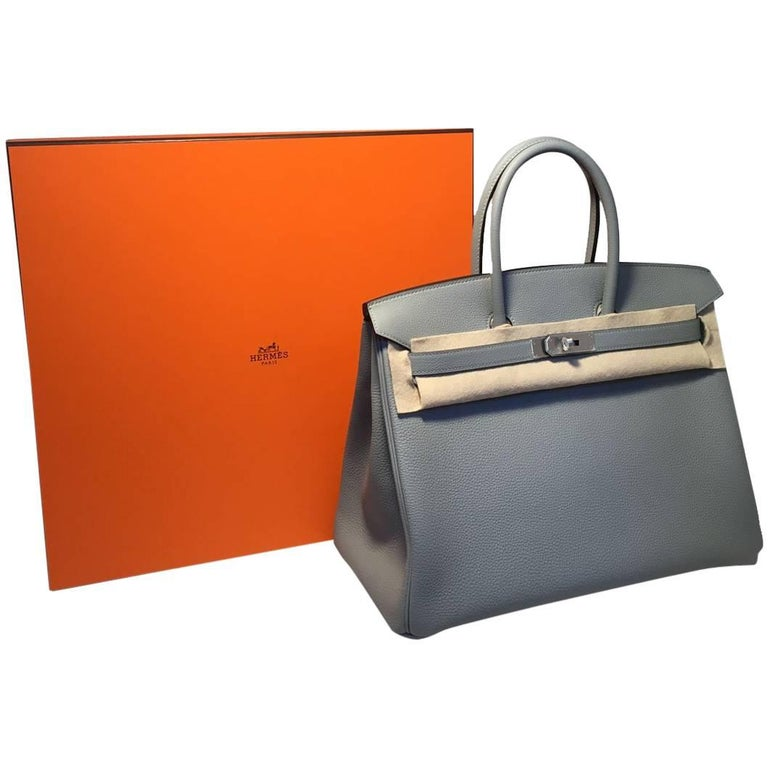 Hermes Custom Made Grey 35cm Togo Birkin Bag, 2017