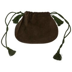 Yves Saint Laurent Suede Drawstring Bag
