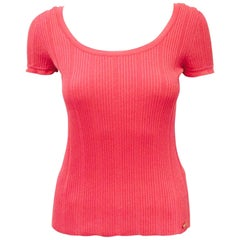 Contemporary Chanel  Bright Pink Stretch Cotton Tee