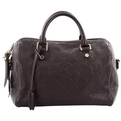 Louis Vuitton Speedy Bandouliere Bag Monogram Empreinte Leather 25