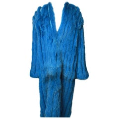 VINICIO PAJERO Full Length Ribbed Fox Fur