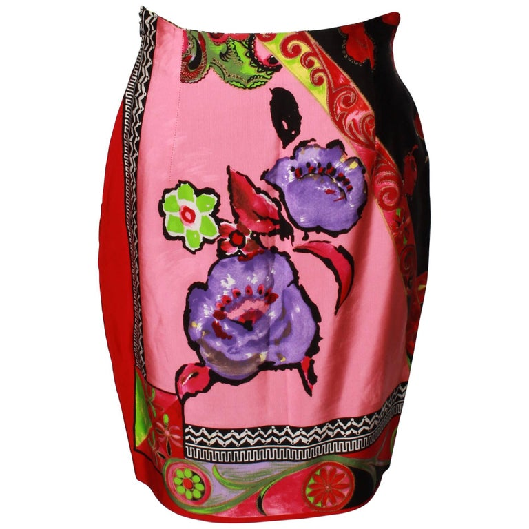 Floral Gianni Versace Skirt