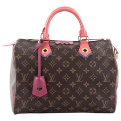 Louis Vuitton Speedy Handbag Limited Edition Totem Monogram Canvas 30