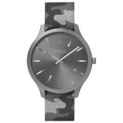 Versus grey camouflage double wrists watch