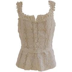 Dolce & Gabbana white corset