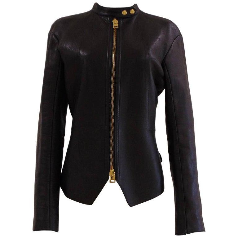 Tom Ford black leather jacket