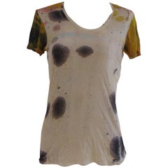 Helmut Lang see through multicoloured cotton shirt