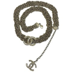 Limited Series CHANEL Interlaced Gilded Metal Chains Belt