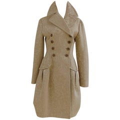 John Galliano cream damasque coat