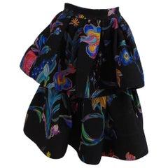 Leitmotiv anthracite flower skirt NWOT
