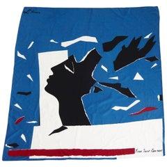 "1980s Yves Saint Laurent ""L'Hiver"" Silk Scarf"