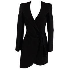Giorgio Armani black latex coat