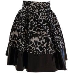 Leitmotiv unworn/nwot skirt with vernish ecoleather details