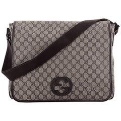 Gucci Interlocking G Messenger Bag GG Coated Canvas Large