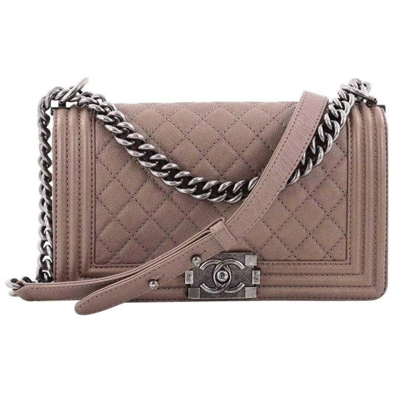 86a31575172c Chanel Boy Flap Bag Quilted Goatskin Old Medium at 1stdibs