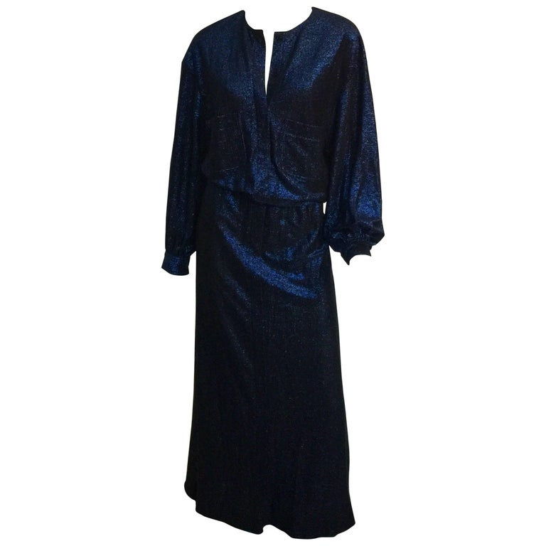 Giorgio di Sant'Angelo Midnight blue sparkle maxi dress