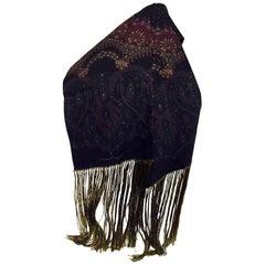 Men's Fabulous Salvatore Ferragamo Silk Luxurious Long Fringe Scarf