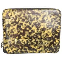 EMPORIO ARMANI Olive Camouflage Tortoiseshell Patent Leather iPad Case