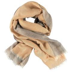 ETRO Gold & Gray Layered Cashmere - Silk Gauze Scarf