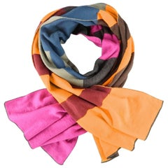 ETRO Color Block Pop Art Letters Wool Scarf
