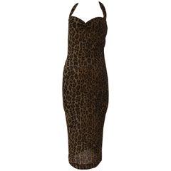 1990s Dolce & Gabbana D&G Leopard dress