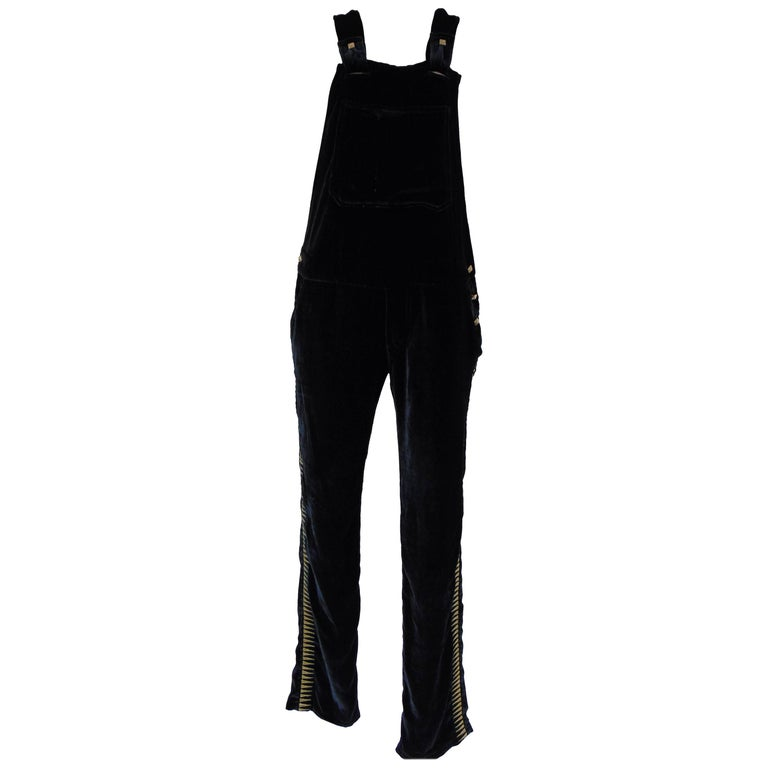 Zadig & Voltaire deluxe dark green velvet jumpsuit - all in one For Sale