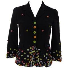 Moschino black bottons jacket